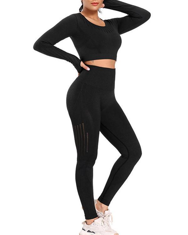 Super Breathable Seamless Long Sleeve & long Leggings Sets