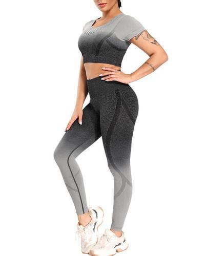 Super Breathable Seamless T-Shirt & Leggings Sets