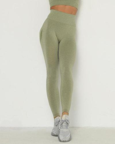 Solid Color Full Length Sports Leggings
