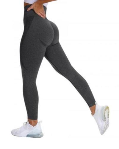Gray Yoga Legging Knit Seamless High Rise Female