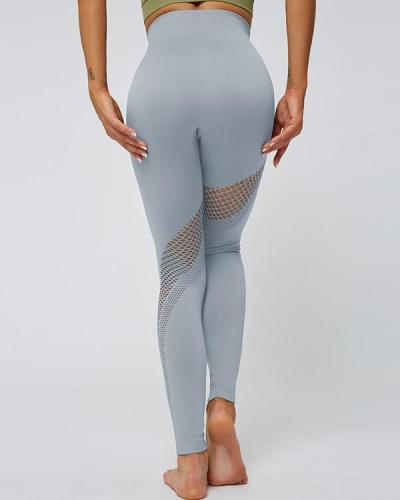 Sports Leggings Wide Waistband Seamless Outdoor