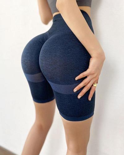 Yoga Shorts Fitness Seamless Butt Lifter Gym Shorts
