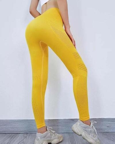 Women Seamless High Waist Leggings Peach Hip