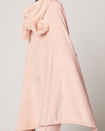 Pink Robe Flannels Soft Pajamas With Pockets