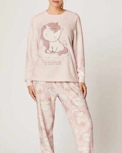 Long Sleeve Soft Unicorn Pajamas Suit