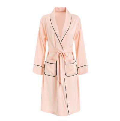 Women Long Silk Robe Sleepwear