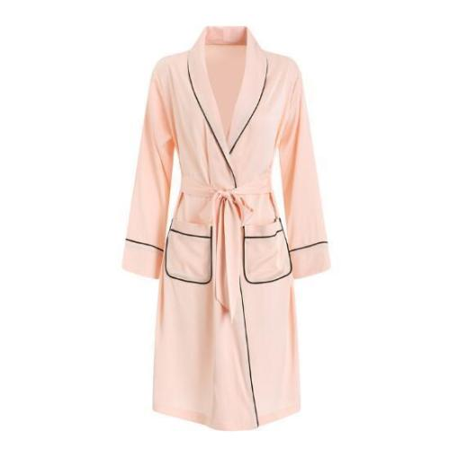Women Long Silk Robe Sleepwear