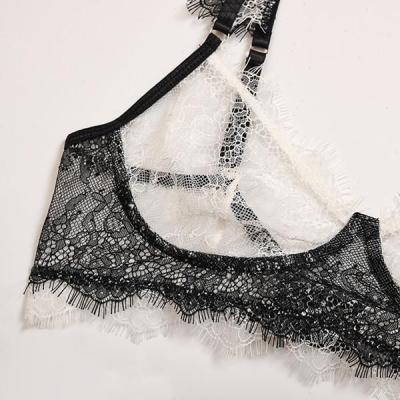 Women's Eyelash Lace Bra Set