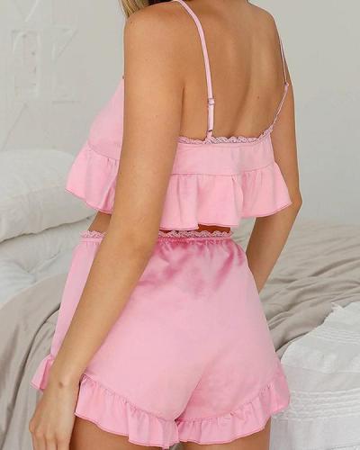 Sweet Lace Sleepwear at Home Pajamas