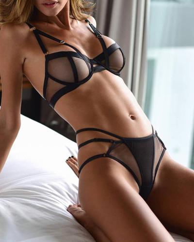 Erotic Nights Bralette Set Sexy Lingerie