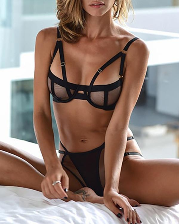 Erotic Nights Bralette Set Sexy Lingerie