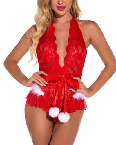 Christmas Lingerie Sexy Lace Curvy Clause Cutie Lingerie Costume