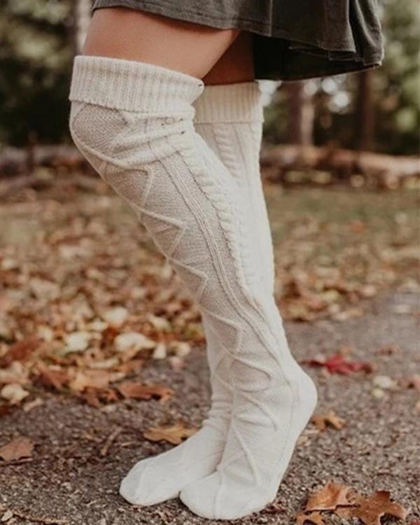 Over The Knee Knit Socks