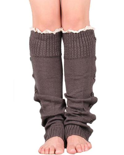 Ladies Christmas Lace Over Knee Woolen Socks Legs