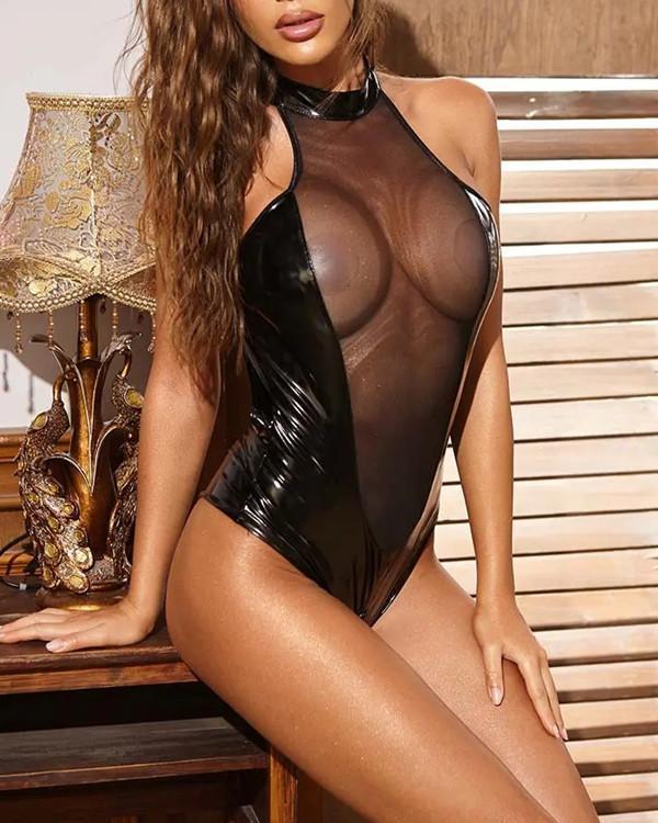 Sexy Black Sexy Lingerie Bodysuit