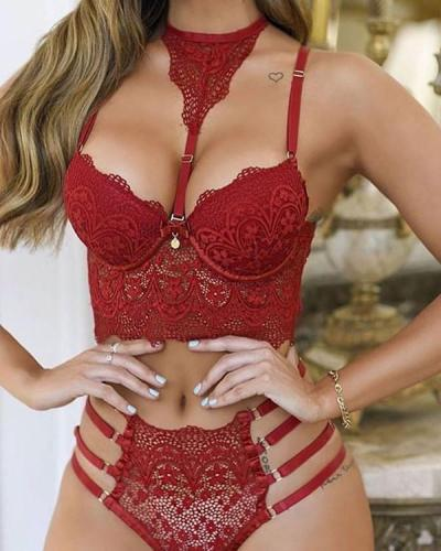 Lace Red Mesh Sexy Lingerie