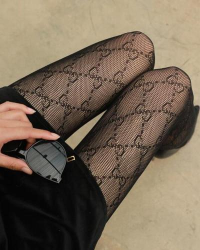 Mesh Sexy Rhinestone Stockings
