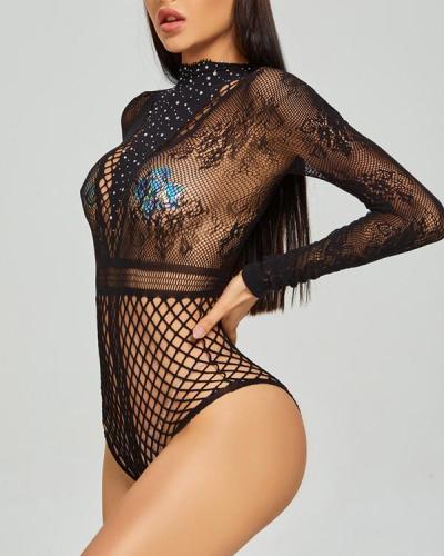 Mesh Sexy Rhinestone Lingerie