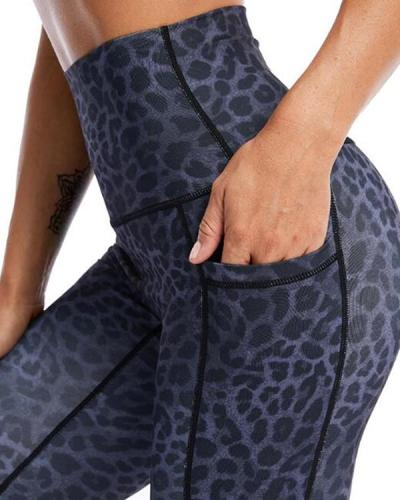 Leopard Pocket Fitness Legging Yoga Pants
