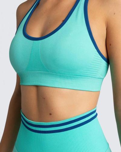Seamless Yoga Set Two Pcs Crop Top Bra Leggings
