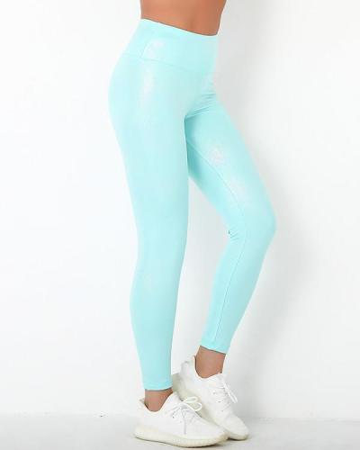 Pearlescent Elastic Push Up Workout Leggings