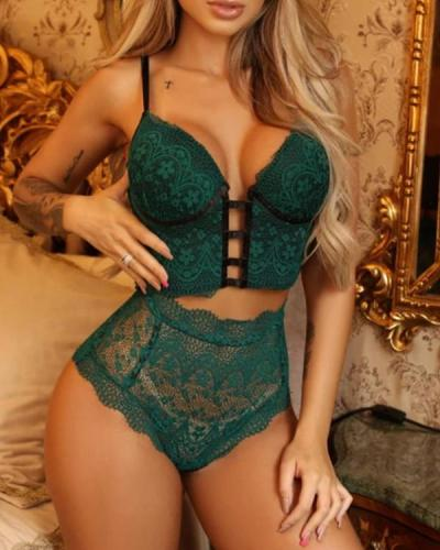 Sexy Women's Lace Lingerie Set