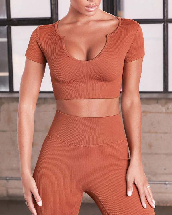 Seamless Knitted Yoga Suit