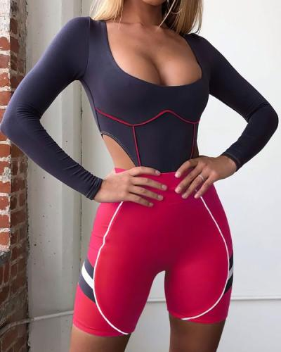 Seamless Fitness Sports Slimming Suit