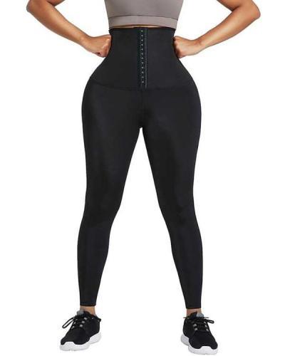 Neoprene Leggings Shaper 3 Rows Hooks High Rise Fitness