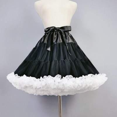 Women Tulle Petticoat Lolita Petticoat Cosplay Party Dress