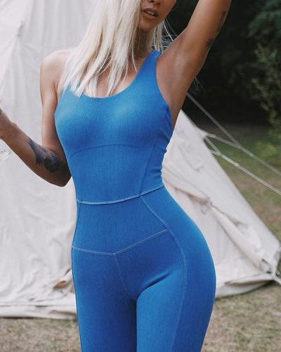 Sexy Peach Hip Yoga One-piece Fitness Exercise Beautiful Back Aerial Suit