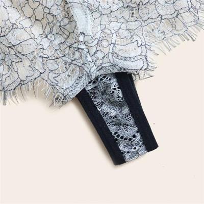 Elegant Black and White Lace Lingerie set