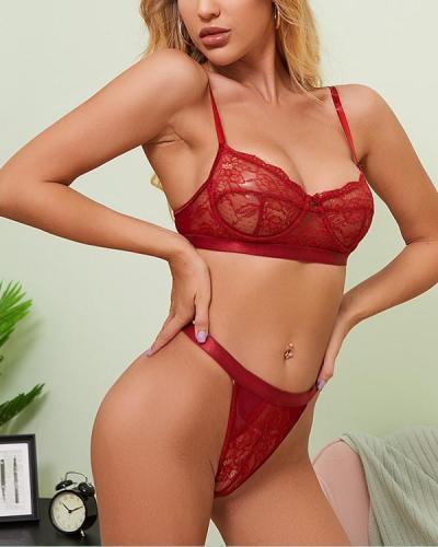 Lace Bra Sexy Lingerie Set