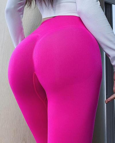 High Waist Elastic Tight Yoga Leggings