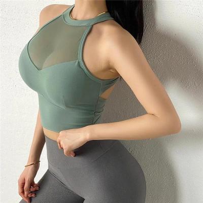 Sexy Sports Bra Mesh Vests Bra