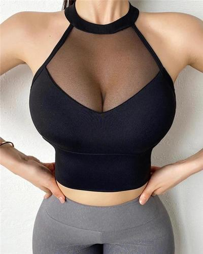 Sexy Sports Bra Mesh Vests Bra