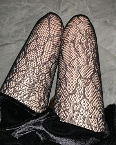 Fishnet Pantyhose Woman Cobweb Stockings