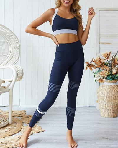 New Women Sports Active Wear Yoga Fitness Workout Set