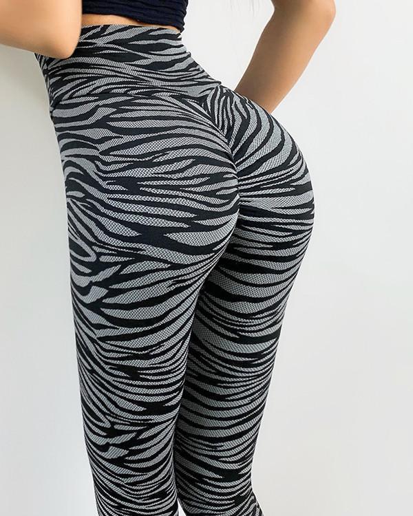 Zebra & Leopard Print Fitness Yoga Leggings