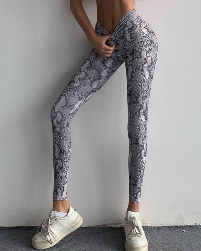 Leisure Leopard Print Fitness Yoga Leggings