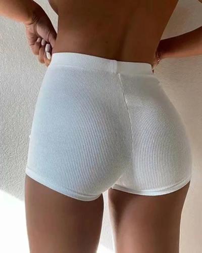 High Waist Yoga Shorts Stretch Safety Shorts