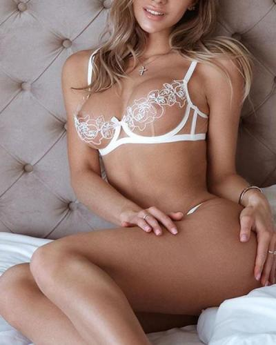 Sexy Flower Lace Lingerie Set