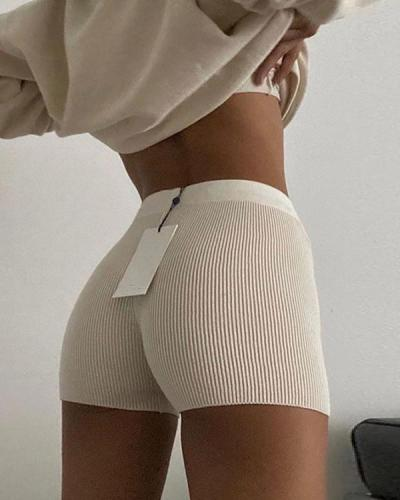 High Waist Yoga Shorts Stretch Safety Shorts