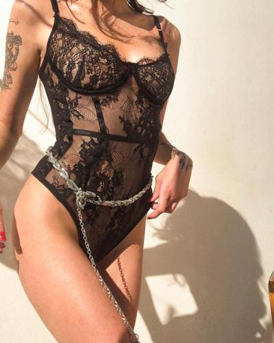 High Quality Lace Bodysuit Sexy Teddy Lingerie