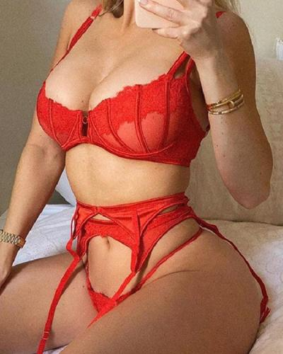 Red Lace Lingerie Set