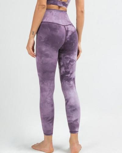 Tie-dye High Waist Yoga Pants Sports Leggings