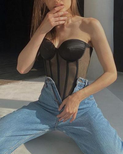 Summer Bandage Club Short Wrap Lace Up Breasted Corset