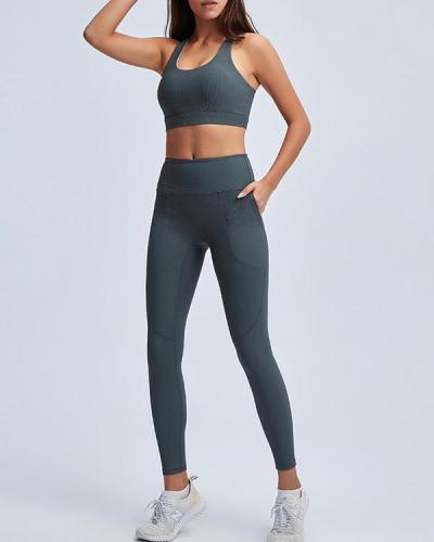 Comfortable Seamless Yoga Set Two Pcs Bra & Leggings