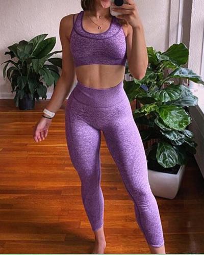2021 New Comfortable Seamless Yoga Set