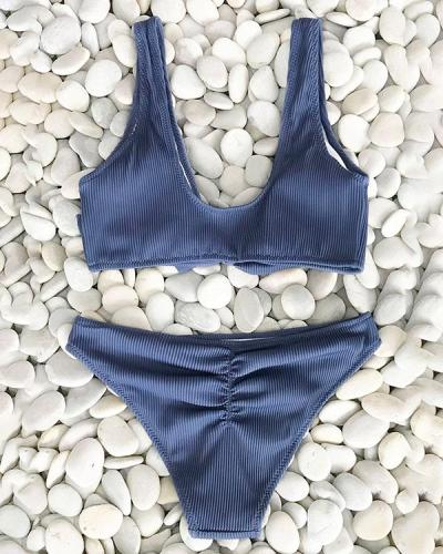 Women's Sexy Solid Color Swimsuit